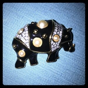 Accessories - **Vintage** Kenneth Jay Lane Rhino Brooch